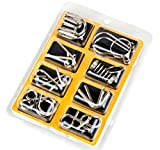 ULT-unite IQ Toys Brain Teaser Metal Wire Puzzles, Assembly & Disentanglement Puzzles Set