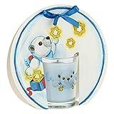 THUN ® - Candela Un Pensiero Felice con Orso Polare Paul e Stelle - Gelsomino