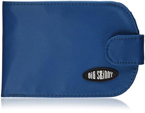 Big Skinny Women's Taxicat Bi-Fold Slim Wallet, Holds Up to 25 Cards, Ocean Blue