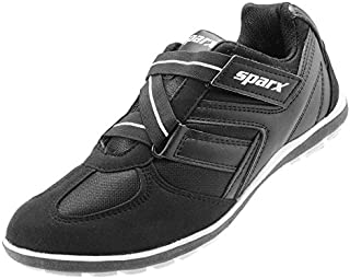 CLICKTIN Men's Black and White Running Sport Shoes (9)