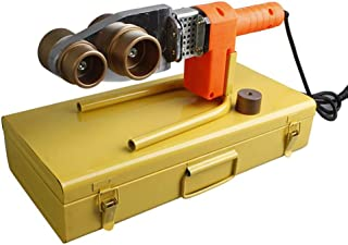 1000W Soldador de Tuberia Plastica,220V//50Hz,20-63mm,Dual Disipacion de Calor,Cable de Anti-Quemadura,Polifusor Kit de Temperatura Ajustable para PP-R//PE//PB,63A