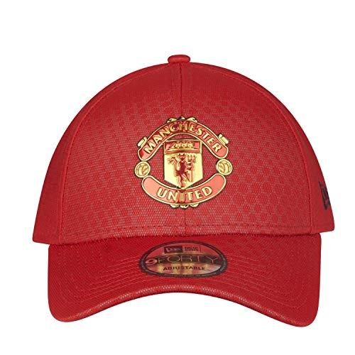 New Era Manchester United 9FORTY Red Hex Pattern Adjustable Hat/Cap