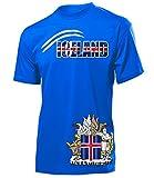 Island Iceland Fan t Shirt Artikel 6023 Fuss Ball Welt Europa Meisterschaft EM 2020 WM 2022 Team Trikot Look Flagge Fahne Männer Herren Jungen XXL