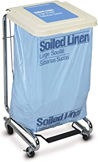 MediChoice Linen Hamper, Foot Operated, Tilt Lid, 3 Ball Bearing Casters, Chrome Plated Steel, 19 Inch x 20 Inch x 38 Inch, 1314HAMP9000 (Each of 1)