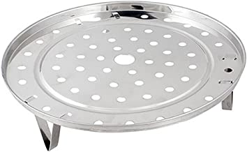 potato001 Stainless Steel Steamer Rack Insert Stock Pot Steaming Tray Stand Cookware 23.7CM Multi