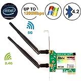 Wireless Network Card, Ubit Wireless Wifi Dual Band Gigabit Adapter, 867Mbps 4.0