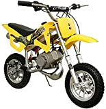 DB49A 49CC 50CC 2-Stroke Gas Motor Mini Dirt Pit Bike (Yellow) DB49A