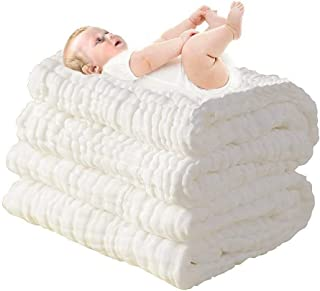 ComfortableBABY- 6 Layer Multi Use Baby Towel & Blanket, Super Water Absorbent,All-Natural Material -Care for The Baby Ski...