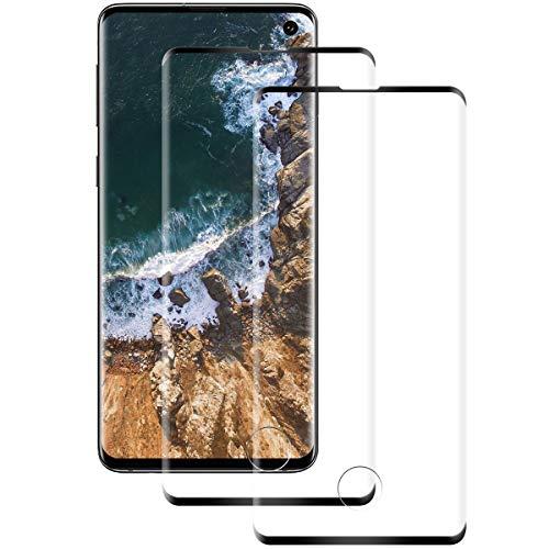 Miuphro Cristal Templado para Samsung S10 [2 Unidades], 3D Full-Cover, 9H Dureza, Alta Definicion, Sin Burbuja, Anti-Arañazos Protector de Pantalla para Samsung S10