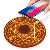 Magic Array Wireless LED Light Up Charger Qi 10W Wireless Fast Charging Pad, Compatible for iPhone 12/11 Pro/Max/Xs Max/XR/XS/X/8/8 Plus, Samsung S20/S10/S9/S8/Note 10(Adapter NOT Included)