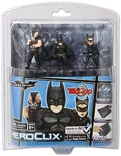DC Comics Dark Knight Rises Batman HeroClix TabApp, 3-Pack