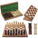 Único Juego de ajedrez de Madera de Lujo ORAVA Deluxe 50cm / 19.7in 100% Hecho a Mano. Tablero de ajedrez con Incrustaciones y 32 esculturas genuinas