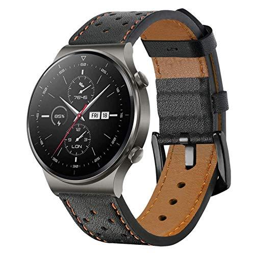 SPGUARD Armband Kompatibel mit Huawei Watch GT2 Pro Armband Huawei Watch GT2 Armband, 22mm Leder Ersatzarmband mit Schnellverschluss für Huawei GT2 Pro/Huawei GT2 46mm