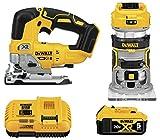 DEWALT 20V MAX XR Router, Cordless, Woodworking Kit, 2-Tool (DCK201P1)