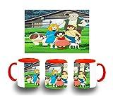 MERCHANDMANIA Taza ROJA Serie Antigua DE Heidi Anime Color mug