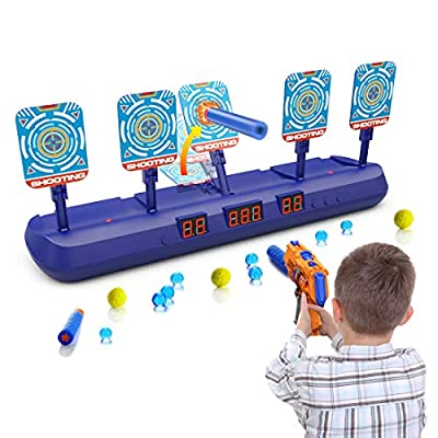 WUEAOA 2020 Toys for 4 5 6 7 8 9 Year Old Boys Girls Digital Shooting Target for Nerf Guns Auto Reset 3 Mode with 5 Targets Idea Gifts for Kids by WUEAOA