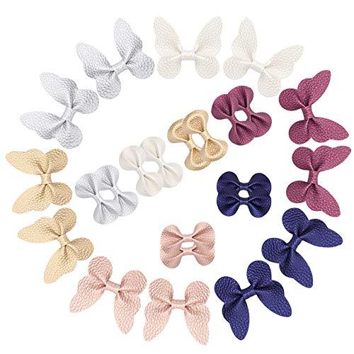 FYHappy - Horquillas para el pelo, diseño de mariposas, para niñas, accesorios para el cabello, material de calidad y bien hecho, cómodo de llevar, sin tirones, paquete de 24