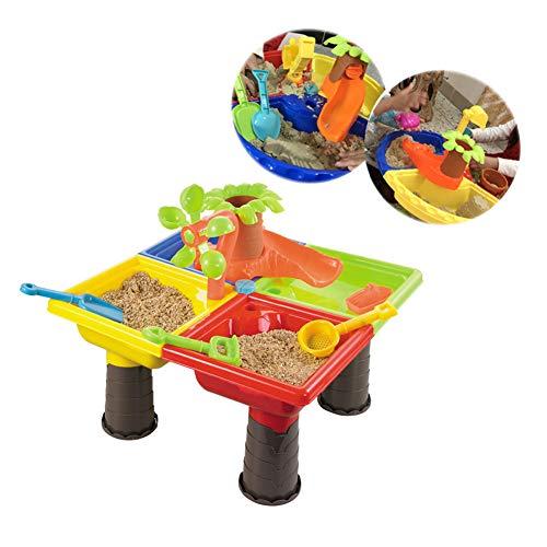 Zand- En Watertafel Tuin Zandbak Speelset Speelgoed Gieter Spade Zandemmer 22 Stuks