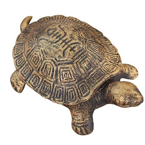 Ozzptuu Cast Iron Turtle Cigar Ashtray Decorative Cigarette Ash Bins Tray for Home or Bar Table Art Decorations