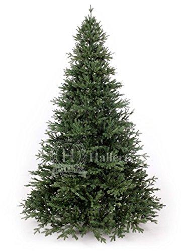 Hallerts Original Spritzguss Weihnachtsbaum Oxburgh 210 cm Edeltanne - zu 100% in Spritzguss PlasTip® Qualität - schwer entflammbar nach B1 Norm, Material TÜV und SGS geprüft
