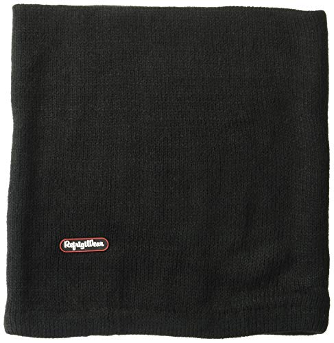 RefrigiWear Warm Double Layer Acrylic Knit Neck Gaiter Face Mask (Black, One Size Fits All)