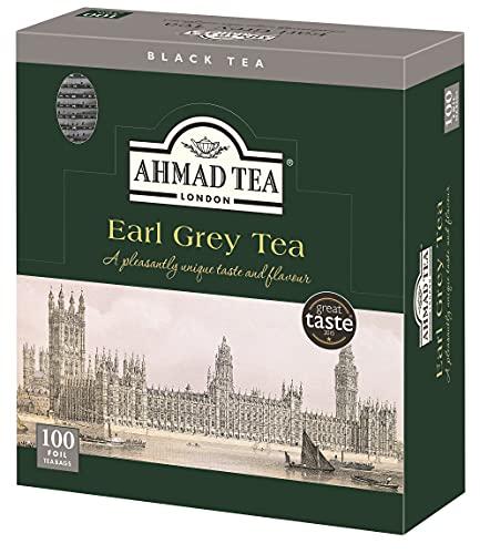 スマートマットライト AHMAD TEA ( アーマッドティー ) アールグレイ ティーバッグ 100袋入り [ 英国ブランド 個包装 ]