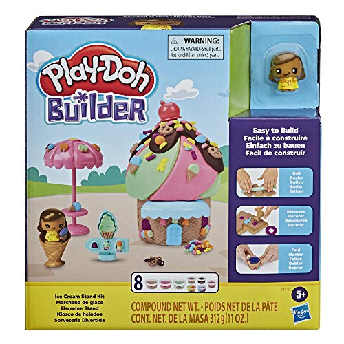 Play-Doh Builder Ice Cream Stand Toy Building Kit E9040 for 4.89