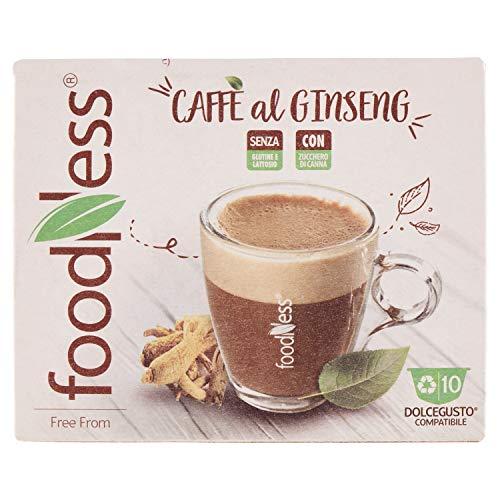 Foodness Capsula Caffè al Ginseng compatibile Dolcegusto - 5 Confezioni da 10 Capsule [Tot. 50 Capsule]