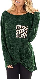 e7b9431678cb Mujer T-Shirt Camisas Primavera Otoño Elegante Colores Sólidos Vintage  Especial Estilo Negocios Manga Larga