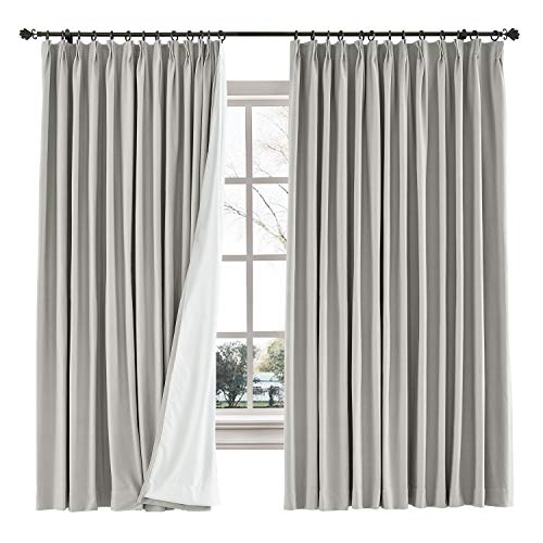 ChadMade Cotton Linen Curtain Custom Made for Rod, Blackout Curtains Custom, Grommet Tab Top Pinch Pleated Header Style, Extra Width Curtains Extra Long ( 1 Panel ), Capri Collection