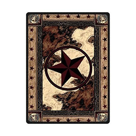YISUMEI Decke 125x150 cm Kuscheldecken Sanft Flanell Weich Fleecedecke Bettüberwurf Western Texas Stern Vereinigte Staaten