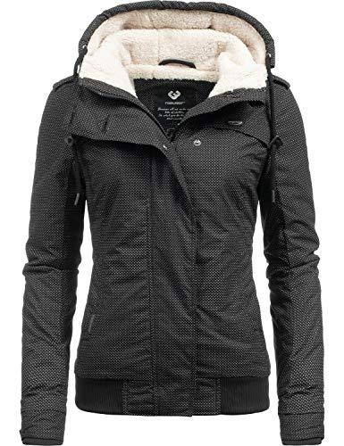 Ragwear Damen Winterjacke Outdoorjacke Ewok Black Minidots018 Gr. XL