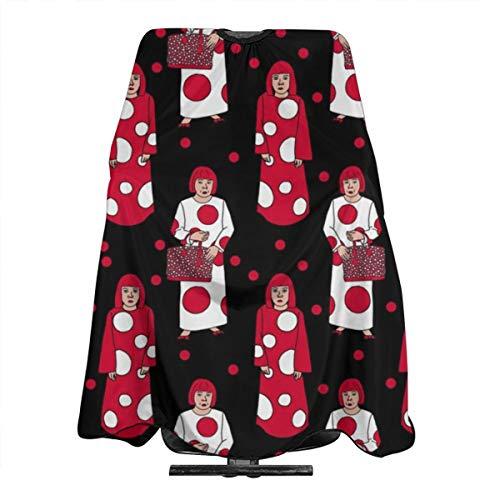 Yayoi Kusama Cape de coiffure légère en polyester pour femme Motif pois rouges et blancs 140 x 305 cm