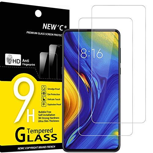 NEW'C 2 Pezzi, Vetro Temperato per Xiaomi Mi Mix 3, Pellicola Prottetiva Anti Graffio, Anti-Impronte, Senza Bolle, Durezza 9H, 0,33mm...