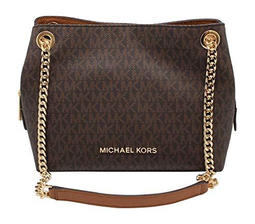 Michael Kors Medium Chain Messenger Signature Bag Brown Acorn