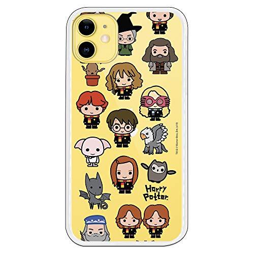 Funda para iPhone 11 Oficial de Harry Potter Personajes Iconos para Proteger tu móvil. Carcasa para Apple de Silicona Flexible con Licencia Oficial de Harry Potter.