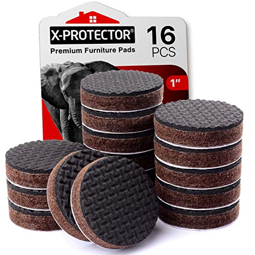 """Furniture Grippers XProtector – Non Slip Furniture Pads 16 PCS – 1"""" Round Furniture Pads – SelfAdhesive Rubber Feet for The Furniture – Non Skid Furniture Pads – Keep Furniture in Place"""