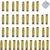 Boladge 20 Paar Vergoldete 3.0mm 3mm Bullet Männlich Buchse Bananenstecker Rundstecker für ESC Motor Lipo Batterie -