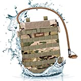 Source Tactical Razor Hydration Pouch with WLPS 3L Low Profile Hydration Bladder - for Integration with MOLLE-Based Ballistic Vest - High-Flow Push-Pull Storm Drinking Valve - 100oz