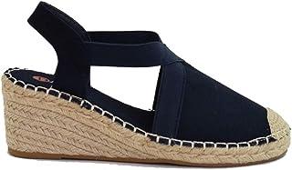 Zapatos Sandalias con tacón Plataforma Tela Esparto Alpargata Punta Cerrada