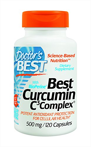 Doctor's Best Curcumin C3 Complex with BioPerine Capsules, 500 mg, 120 Count