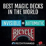 RecontraMago Magia Bicycle - Las Top Barajas Mágicas del Mundo Ahora en Cartas Bicycle - Trucos de Magia para niños y Adultos (AUTOMATICA + Invisible)