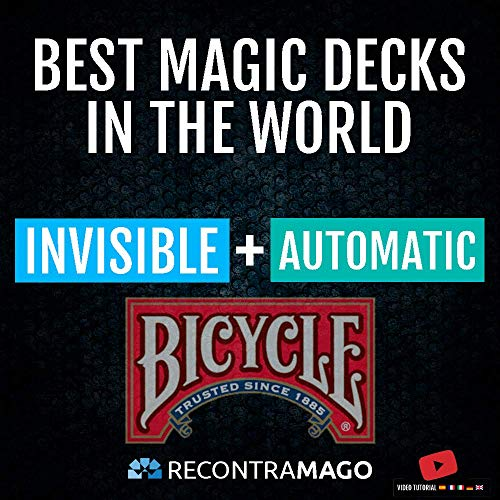 RecontraMago Magia Bicycle - Las Top Barajas Mágicas del Mundo Ahora en Cartas Bicycle - Trucos de Magia para niños y Adultos (AUTOMATICA + Invisible)