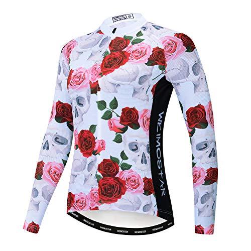 Jersey Fietskleding, lange mouwen, voor dames, bike, shirts, lange racefietskleding, mouwen, sportkleding, tops