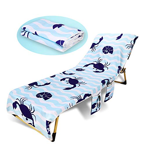 Beach Chair Towel, Microfiber Double Chaise Lounge Chair Towel, Suitable for Swimming, Leisure or Tanning, Outdoor Patio Pool Chairs and Recliners Cover, Pool Towels