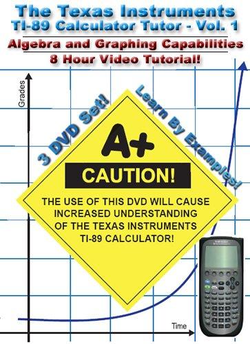Algebra and Graphing: TI-89 Calculator Tutor: Vol 1