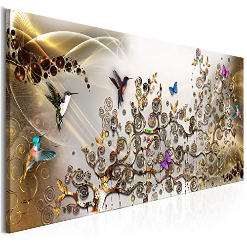 decomonkey | Impression sur Toile intissée Gustav Klimt Abstrait 120x40 cm 1 Pieces Tableau Mural Image sur Toile Photo Images Motif Moderne Decoration tendu...