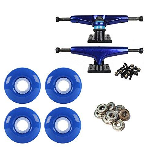 LiteZpeed Skateboard Trucks Blue/Black 52mm Blue ABEC 9 Bearings Combo