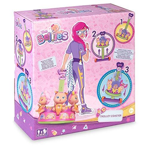 The Bellies - Trolley Coaster, Accesorio para los Bellies y Mini Bellies, para cuidarles y transportarles, llevarles a Todas Partes. Regalo para niñas y niños a Partir de 3 años(Famosa 700016222)