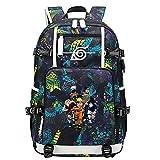 ZZGOO-LL Uzumaki Naruto/Sharingan/Uchiha Sasuke USB Anime Cosplay Bookbag College Bag Mochila Backpack Escolar-F